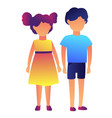 boy and girl standing together vector image