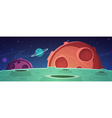 Cartoon Game Space Background vector image vector image