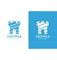 castle logo combination unique fortress logotype vector image vector image