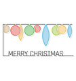 christmas card with shaded balls vector image vector image