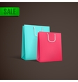 colorful shopping bags mock-up vector image