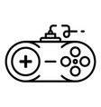 console joystick icon outline style vector image vector image