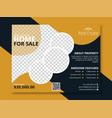creative modern real estate business flyer design vector image vector image