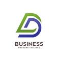dd letter logo design vector image vector image