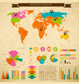 diagram and business charts infograhic vector image vector image