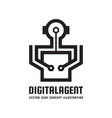 digital agent manager - creative logo template vector image