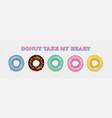 donut set hand drawn bakery design pop art vector image