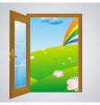 door gray vector image vector image