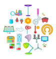 earth energy icons set cartoon style vector image vector image