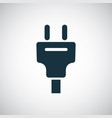 electrical plug icon simple flat element concept vector image