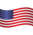 flying american national flag with silver stars