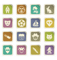 genres of cinema icons set vector image vector image