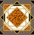 geometry and animal skin pattern vector image vector image