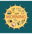 Good morning thin line template vector image vector image
