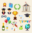 graduation education univercity or school vector image