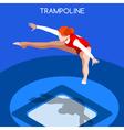 Gymnastics Trampolining 2016 Summer Games 3D vector image