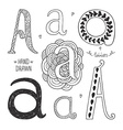 hand drawn alphabet vector image