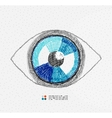 Hand drawn eye vector image