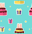 happy birthday seamless pattern background with vector image vector image