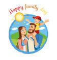 happy family day cartoon icon or concept vector image