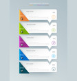 infographic label design with icons and 5 options vector image vector image