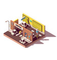isometric multistorey car parking vector image vector image