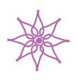 line icon flower cartoon vector image vector image