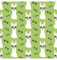 llama in aviator glasses seamless pattern vector image vector image