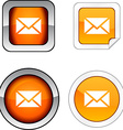 mail button set vector image vector image