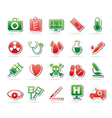 medical tools and health care equipment icons vector image