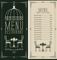 menu with price list image served table and vector image vector image