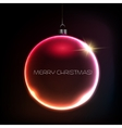 Merry Christmas Bauble greeting card vector image vector image