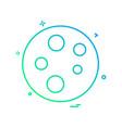 molecule icon design vector image vector image