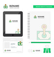money business logo tab app diary pvc employee vector image vector image