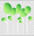 paper tree flat icon tree forest on isolated vector image vector image