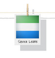 photo of sierra leone flag vector image vector image