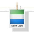 photo of sierra leone flag vector image