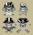 pirate skulls vector image