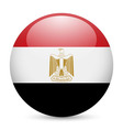 Round glossy icon of egypt vector image vector image