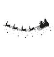 Santa claus reindeer vector image vector image