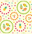 seamless pattern with pineapple vector image