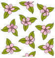 seamless pattern with pink spring flowers vector image vector image