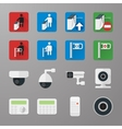 Security icons set 3 vector image vector image