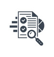 seo audit glyph icon vector image