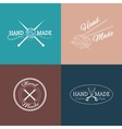 set hand made labels badges and logos vector image vector image