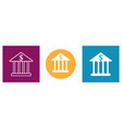 set modern bank icons in different colors vector image
