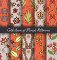 Set of 10 Seamless Floral Patterns vector image