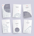 Set of architecture company identify cards vector image vector image
