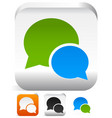 speech bubbles talk bubbles speak bubbles icons vector image