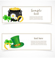st patrick day banners vector image